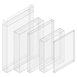 A2 Greeting Card Crystal-Clear Boxes