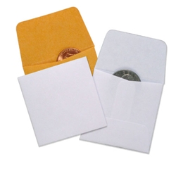 Coin Paper Envelopes - White