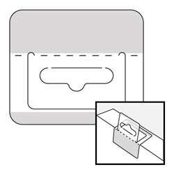 Security Tabs with Hanger