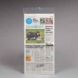 Newspaper Sleeve. Holds flat newspaper.