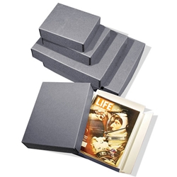 Museum Photo/Print Storage Boxes. Drop front. BLUE-GRAY