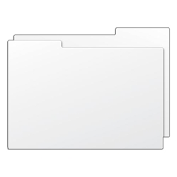 Photo Box Divider Card. 30 gauge white polystyrene.