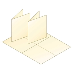 A2 Blank Cream Greeting Card Stock