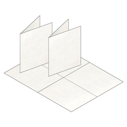 A2 Blank White Linen Greeting Card Stock