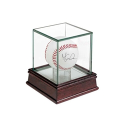Glass Display Case for BASEBALL or HOCKEY PUCK HOLDER