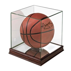 Glass Display Case for a Basketball