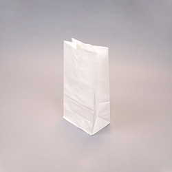 White SOS Paper Bags - flat bottom