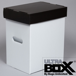 "Storage Box for Graded Magazines, Large Sheet Music, Lobby Cards, 11 x 14"" Mats - PLASTIC Corrugated."