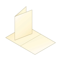 Cream ​A7 Folded Greeting Cards