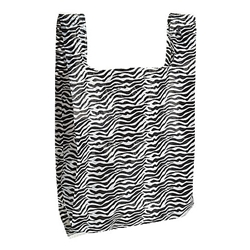 Animal Print T-Shirt Bag - Zebra Print