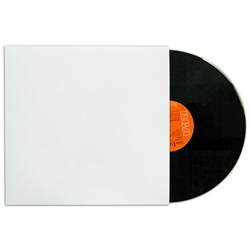 Printable Euro LP Record Jacket. WHITE.<br>  NO hole.