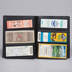 Sports Events Ticket Album. Holds 96 tickets.<br> 3 Horizontal Pockets 6 x 2-3/4