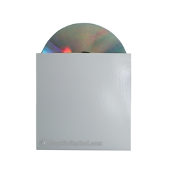 WHITE Cardboard CD Jacket  4-15/16 x 5""