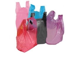 Mini High Density T-shirt Bags  8 x 4 x 15""
