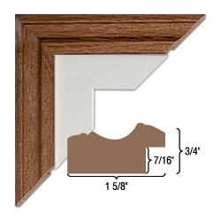 Solid Oak WOOD FRAME-Assembled. 610 Profile.