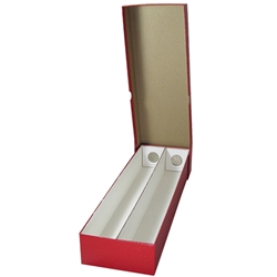 Double Row Coin Holder Boxes - Red