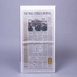 POLYESTER (Mylar) Sleeve for flat Newspapers