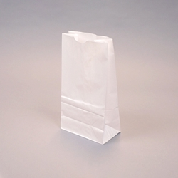 Flat bottom Bakery Bags - White Kraft
