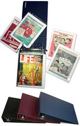 SHEET MUSIC BINDER - Holds LARGE & SMALL Sheet Music.<br>Comes with (40) Polypropylene Pages and (40) Acid-Free Boards.