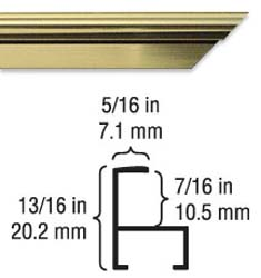 Sectional <b>ALUMINUM FRAME KIT</b>. FLAT Profile 711.