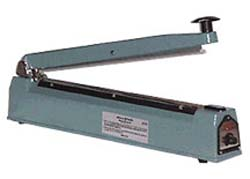 Hand Operated Impulse Sealer. CUT OFF Seal