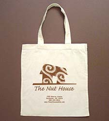 PRINTED 6 oz. Cotton Tote - Medium weight. 16 x 15