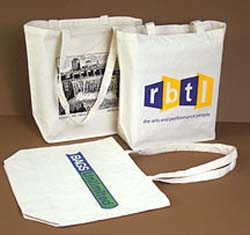 PRINTED 10 oz. Cotton Tote-  HEAVY weight. 15  x 18  x 6