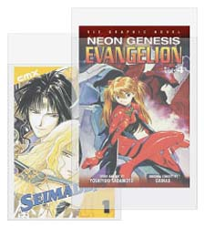 Manga Graphic Novel SLEEVES. 2.5 mil Polyethylene. 1-1/2