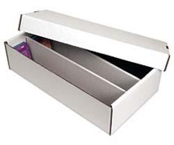 White Corrugated Trading Card Two-piece Box - Holds 2400 Cards