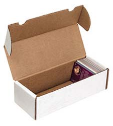 Trading Card BOXES - White Corrugated. One-piece boxes. LxWxH