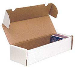 Trading Card BOXES - White Corrugated Cardboard