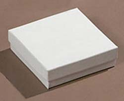 WHITE Jewelry Boxes- with cotton
