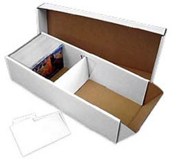 Corrugated Cardboard Postcard Storage Box