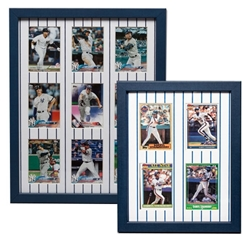 Trading Card Frames - Pinstripe Matboards