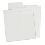 78 Divider Card - WHITE Corrugated. Indexed.