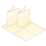 Sleeves for single cards a2 a2 blank cream greeting card stock m4hsunfo