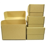 Flip-Top PHOTO BOXES - Acid Free. 40 pt. TAN Barrier Board
