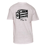 Natural Cotton T-Shirt - Record Crate Design