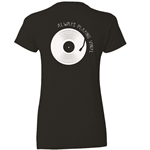 Natural Cotton T-Shirt - Record & Tone Arm Design