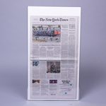 POLYESTER (Mylar) Sleeve for flat NYT Newspaper