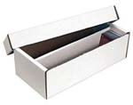 White Corrugated Trading Card Two-piece Box - Holds 1600 Cards