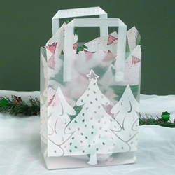 WHITE CHRISTMAS Frosted Shopper