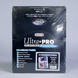 Ultra-PRO® 3 Ring BINDER PAGES - Three Pocket.