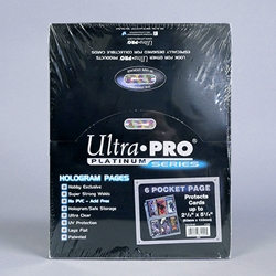 Ultra-PRO® 3 Ring BINDER PAGES - Six Pocket.