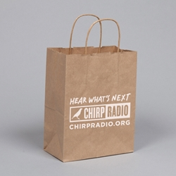 PRINTED Gift Bags. Natural Kraft Paper. Printed 1 color / 1 side.