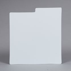 Record Divider Card - WHITE. Indexed.