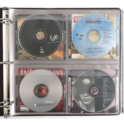 CD Binder Page - Holds 4 CDs, Booklets & Tray Cards