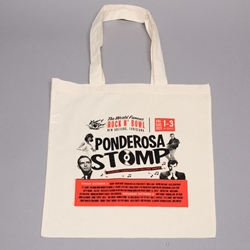 PRINTED 6 oz. Cotton Tote - Medium weight. 16 x 15""