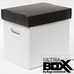12  vinyl Record Storage Box PLASTIC Corrugated & 12