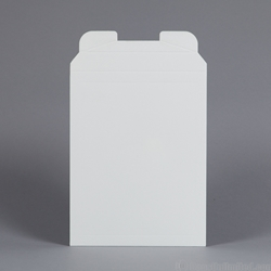 "Rigid Mailer -  White Clay Coat. 8-7/8 x 11-1/8""."